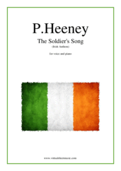Cover icon of The Soldier's Song (Irish Anthem) sheet music for piano, voice or other instruments by Patrick Heeney, easy/intermediate skill level