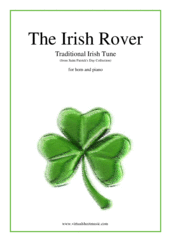Cover icon of The Irish Rover sheet music for horn and piano, easy