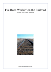 Cover icon of I've Been Workin' on the Railroad sheet music for piano, voice or other instruments, easy