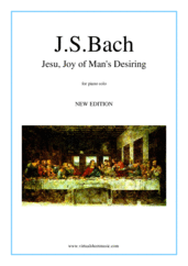Jesu, Joy of Man's Desiring for piano solo - christmas classical sheet music
