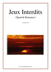 Cover icon of Jeux Interdits (Spanish Romance) sheet music for guitar solo by Anonymous