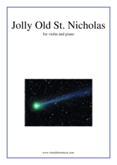 Cover icon of Jolly Old St. Nicholas sheet music for violin and piano, easy