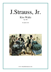 Cover icon of Kiss Waltz Op. 400 sheet music for piano solo by Johann Strauss, Jr., classical score, intermediate