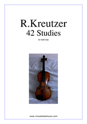 Cover icon of Studies (1-42) - COMPLETE sheet music for violin solo by Rudolf Kreutzer, classical score, intermediate violin