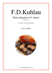 Cover icon of Piano Quartet Op.32 No.1 (f.score) sheet music for piano quintet by Friedrich Daniel Rudolf Kuhlau, classical score, advanced