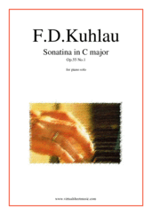Cover icon of Sonatina in C major Op.55 No.1 sheet music for piano solo by Friedrich Daniel Rudolf Kuhlau, classical score, easy/intermediate piano