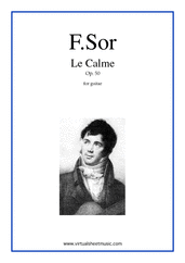 Cover icon of Le Calme, Caprice Op.50 sheet music for guitar solo by Fernando Sor, classical score, intermediate/advanced skill level