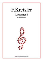 Cover icon of Liebesfreud sheet music for violin and piano by Fritz Kreisler