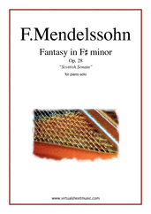 "Cover icon of Fantasy Op.28 ""Scottish Sonata"" sheet music for piano solo by Felix Mendelssohn-Bartholdy, classical score, intermediate/advanced piano"