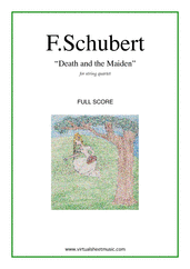 Cover icon of Death and the Maiden (COMPLETE) sheet music for string quartet by Franz Schubert, classical score, advanced