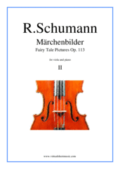 Cover icon of Marchenbilder (Fairy Tale Pictures), Piece No. 2 sheet music for viola and piano by Robert Schumann, classical score, intermediate