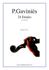 Cover icon of Etudes, 24 - Book I sheet music for violin solo by Pierre Gavinies, classical score, advanced violin