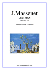 Cover icon of Meditation from Thais sheet music for trumpet and piano by Massenet