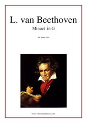 Cover icon of Minuet in G sheet music for piano solo by Ludwig van Beethoven, classical score, easy/intermediate skill level