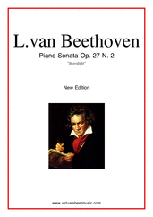 "Cover icon of Sonata Op.27 No.2 ""Moonlight"" sheet music for piano solo by Ludwig van Beethoven, classical score, advanced skill level"