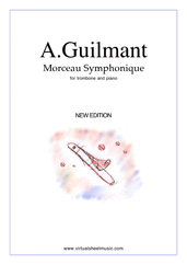Cover icon of Morceau Symphonique Op.88 sheet music for trombone and piano by Alexandre Guilmant, classical score, intermediate/advanced skill level