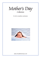 Cover icon of Mother's Day Collection, sweet and amusing compositions sheet music for alto saxophone and piano, classical score, intermediate skill level