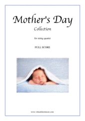 Mother's Day Collection, sweet and amusing compositions (COMPLETE) for string quartet - pietro domenico paradisi violin sheet music