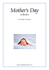 Cover icon of Mother's Day Collection, sweet and amusing compositions sheet music for trumpet and piano, classical score, intermediate