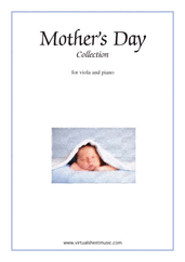 Cover icon of Mother's Day Collection, sweet and amusing compositions sheet music for viola and piano, classical score, intermediate