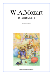 Cover icon of Easy Duets sheet music for two clarinets by Wolfgang Amadeus Mozart, classical score, easy duet