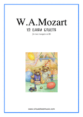 Cover icon of Easy Duets sheet music for two trumpets by Wolfgang Amadeus Mozart, classical score, easy duet