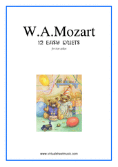 Cover icon of Easy Duets sheet music for two cellos by Wolfgang Amadeus Mozart, classical score, easy duet