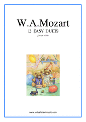 Cover icon of Easy Duets sheet music for two violas by Wolfgang Amadeus Mozart, classical score, easy duet
