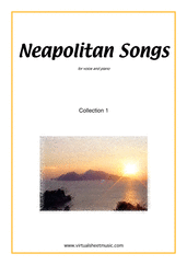 Cover icon of Neapolitan Songs, coll. 1 sheet music for voice and piano, classical score, easy