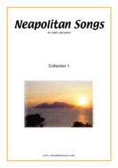 Cover icon of Neapolitan Songs, coll. 1 sheet music for violin and piano, classical score, easy