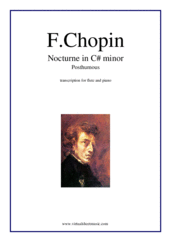 Cover icon of Nocturne in C# minor (Posth.) sheet music for flute and piano by Frederic Chopin