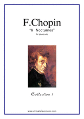 Cover icon of Nocturnes (collection 1) sheet music for piano solo by Frederic Chopin, classical score, advanced