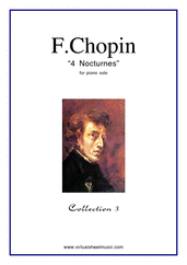 Cover icon of Nocturnes (collection 3) sheet music for piano solo by Frederic Chopin, classical score, advanced skill level