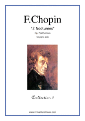 Cover icon of Nocturnes (collection 5) sheet music for piano solo by Frederic Chopin, classical score, advanced skill level