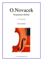 Cover icon of Perpetuum Mobile sheet music for violin and piano by Ottokar Novacek, classical score, advanced skill level