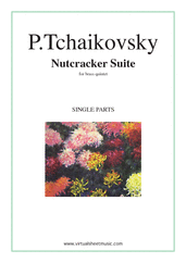Cover icon of Nutcracker Suite (parts) sheet music for brass quintet by Pyotr Ilyich Tchaikovsky, classical score, intermediate/advanced skill level