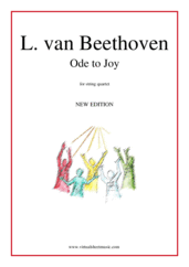 Cover icon of Ode to Joy sheet music for string quartet by Ludwig van Beethoven, classical score, easy