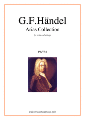 Cover icon of Arias Collection, part II (parts) sheet music for voice and other instruments by George Frideric Handel