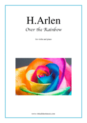 Over the Rainbow for violin and piano - jazz piano sheet music