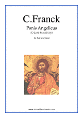 Cover icon of Panis Angelicus sheet music for flute and piano by Cesar Franck, classical wedding score, easy skill level