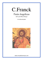Cover icon of Panis Angelicus sheet music for viola and piano by Cesar Franck, classical wedding score, easy