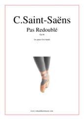 Cover icon of Pas Redouble Op.86 sheet music for piano four hands by Camille Saint-Saens, classical score, intermediate