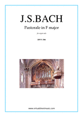 Cover icon of Pastorale in F major BWV 590 sheet music for organ solo by Johann Sebastian Bach, classical score, intermediate skill level