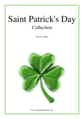 Cover icon of Saint Patrick's Day Collection, Irish Tunes and Songs sheet music for two violas, easy duet