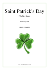 Cover icon of Saint Patrick's Day Collection, Irish Tunes and Songs (parts) sheet music for brass quartet, easy/intermediate