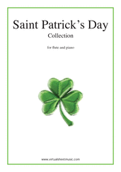 Cover icon of Saint Patrick's Day Collection, Irish Tunes and Songs sheet music for flute and piano, easy flute