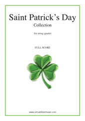 Cover icon of Saint Patrick's Day Collection, Irish Tunes and Songs (f.score) sheet music for string quartet, easy/intermediate