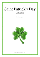 Cover icon of Saint Patrick's Day Collection, Irish Tunes and Songs sheet music for viola and piano, easy