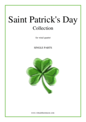 Cover icon of Saint Patrick's Day Collection, Irish Tunes and Songs (parts) sheet music for wind quartet, easy/intermediate skill level