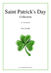 Cover icon of Saint Patrick's Day Collection, Irish Tunes and Songs (f.score) sheet music for wind quartet, easy/intermediate